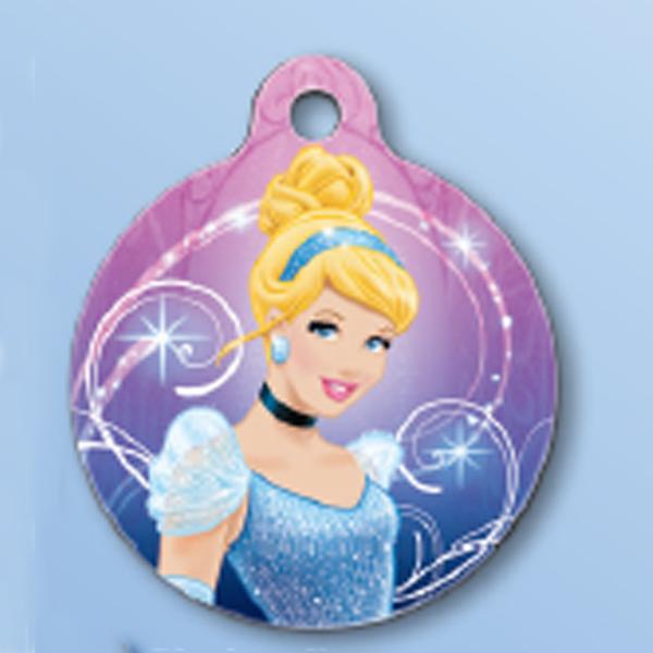 Disney Cinderella QR Code Pet ID Tag