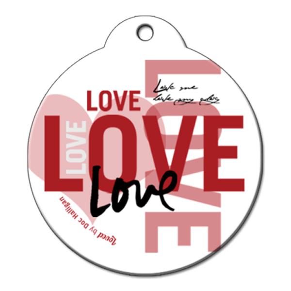 Doc Halligan Lotta' Love QR Code Pet ID Tag by BarkCode