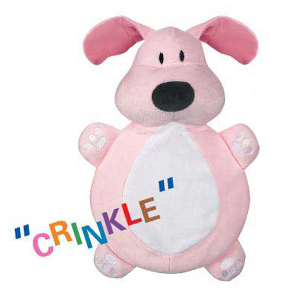 Dog is Good Bolo Crinkleton Dog Toy - Pink