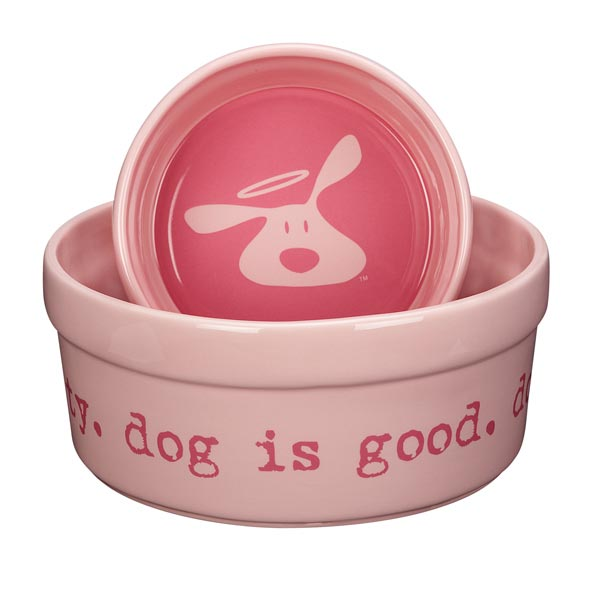 Dog is Good Bolo Dog Dish - Light Blush