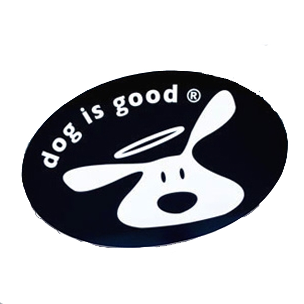 Dog is Good Logo Sticker