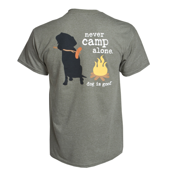 Dog Is Good Never Camp Alone Human T-Shirt