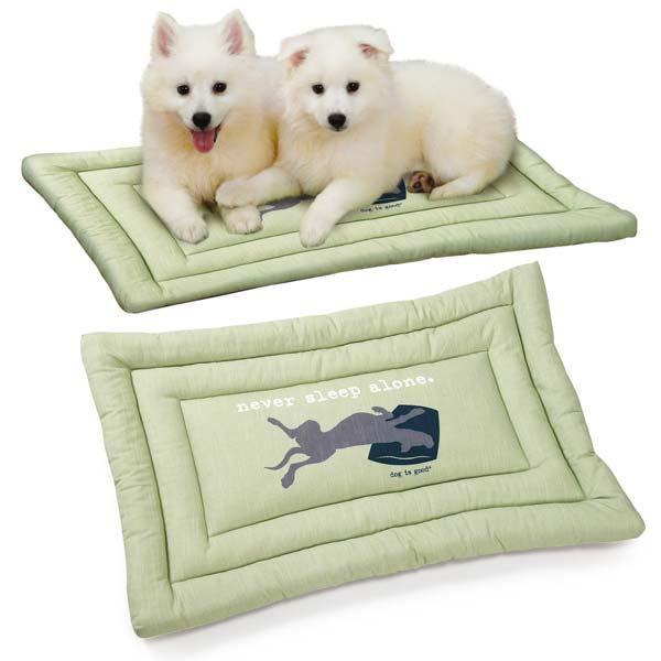 Dog is Good Never Sleep Alone Dog Mat - Green