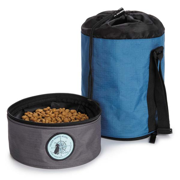 Dog is Good Travel Dog Bowl Kit - Blue