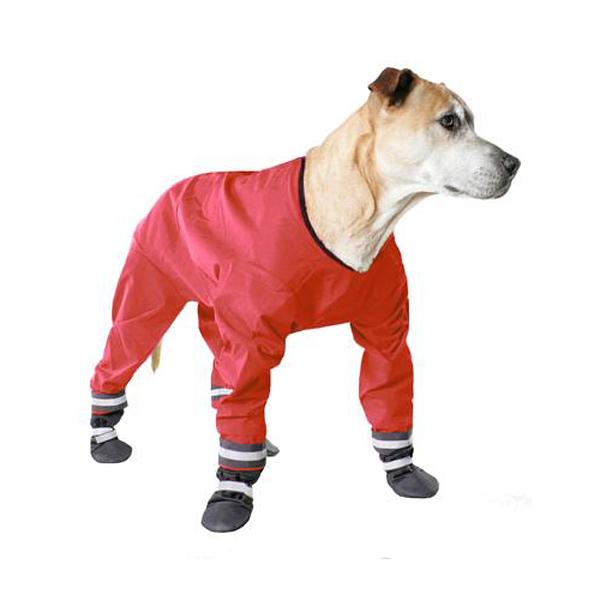 Muttluks Dog Rainsuit - Red