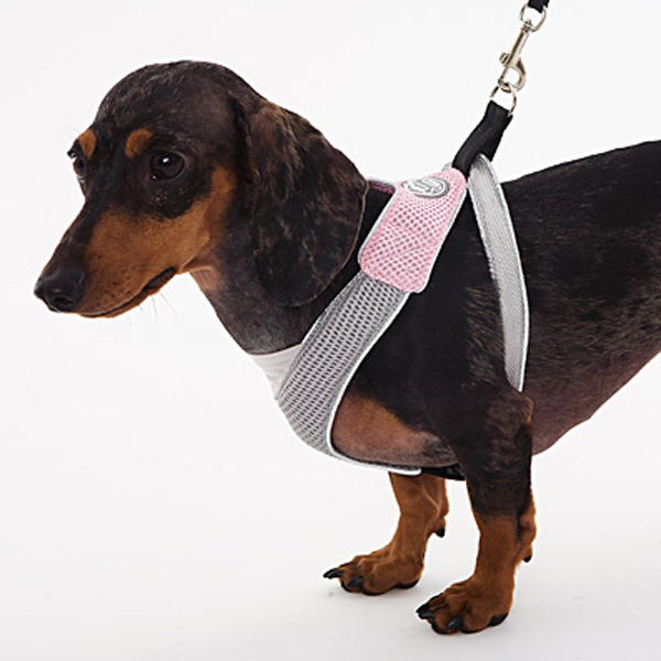 Doggles Pink & Gray V Mesh Harness