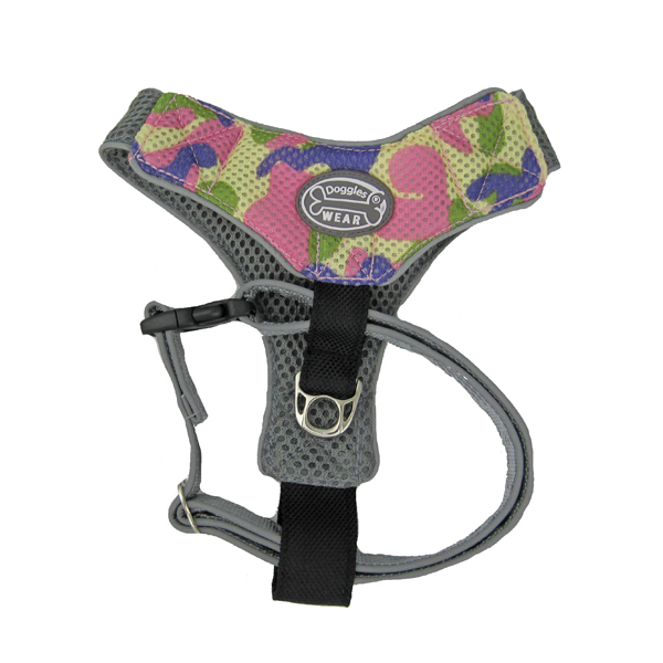 Doggles V Mesh Harness - Pink Camo