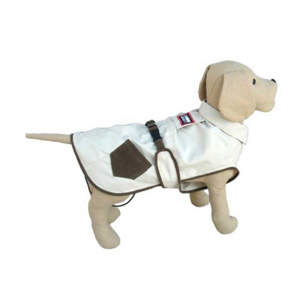 Dogrich Hunter Cream & Brown Dog Coat