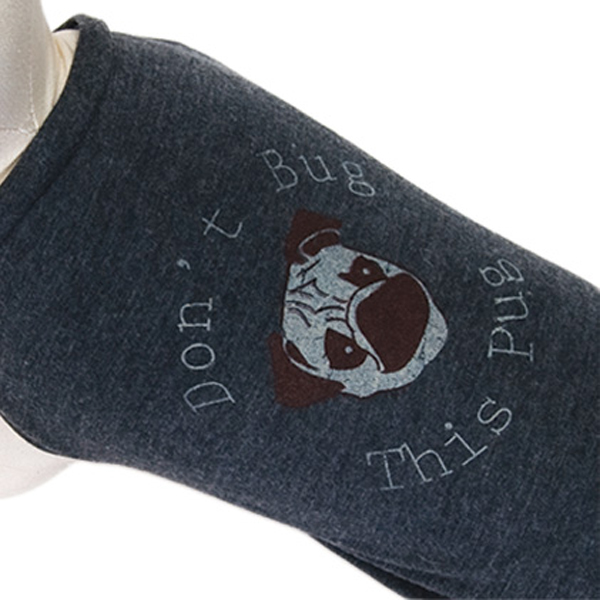 Don't Bug This Pug Dog Shirt - Charcoal