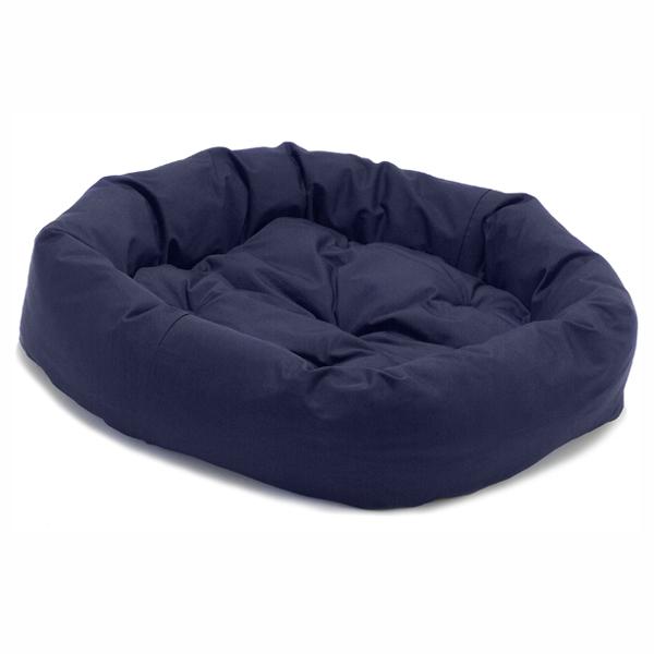 Donut Dog Bed by Dog Gone Smart - Navy
