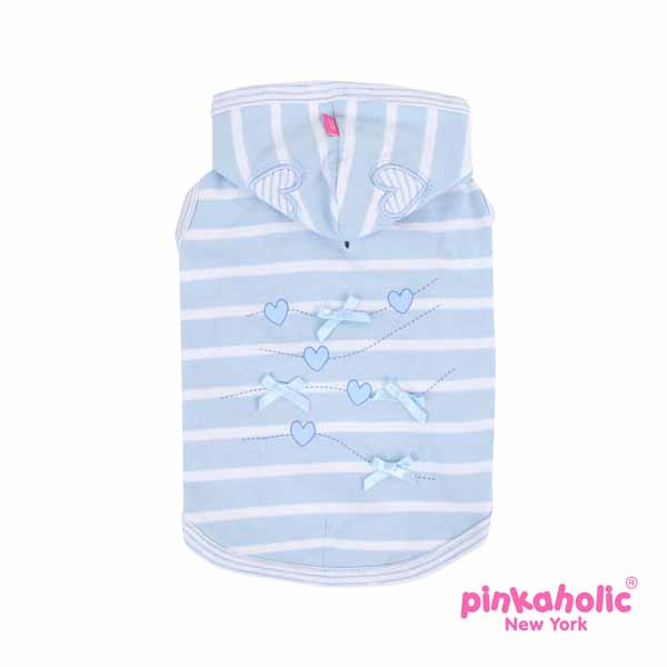 Doodle Hooded Dog T-Shirt by Pinkaholic - Blue