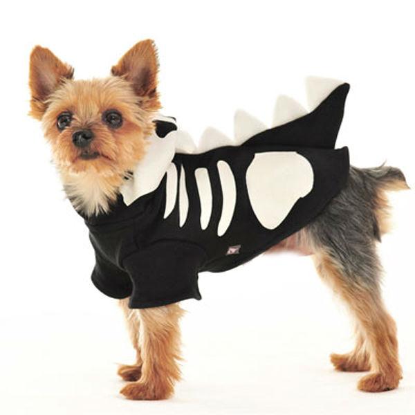 Dragon Skull Dog Sweatshirt by Dogo - Black