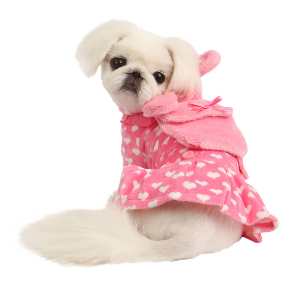 Dreamy Hooded Dog Dress by Pinkaholic - Pink