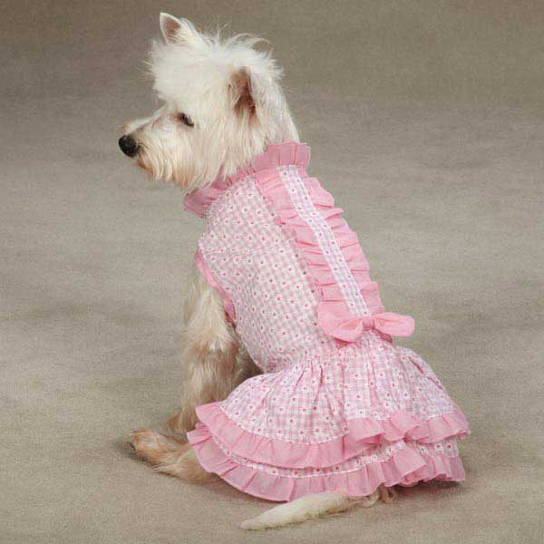 East Side Collection Charlotte Ruffle Dog Dress