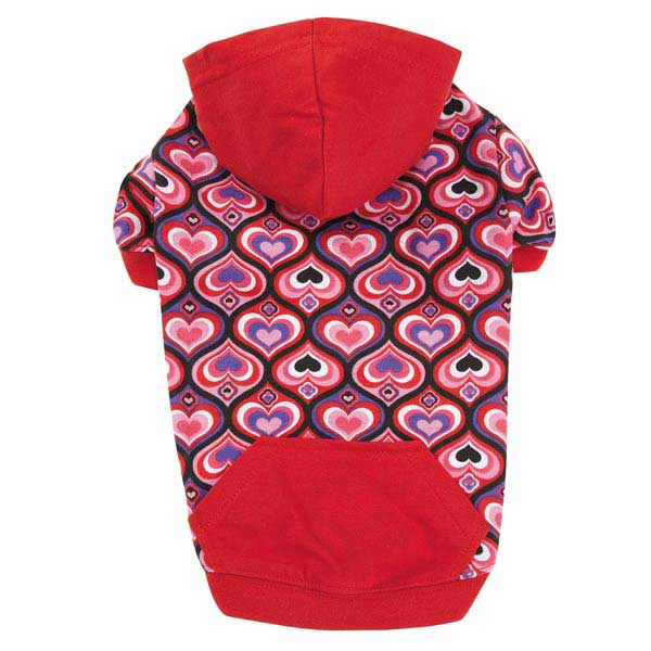 Full of Heart Pullover Dog Hoodie