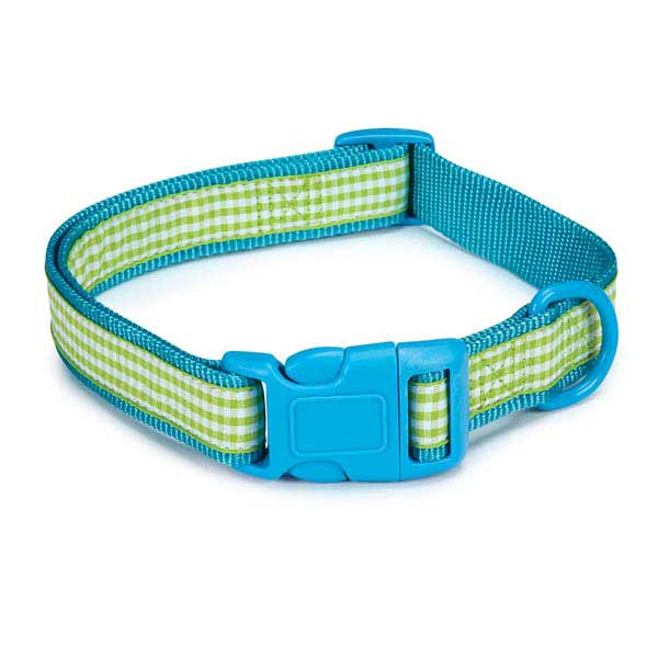 East Side Collection Gingham Sweetie Dog Collar - Bluebird