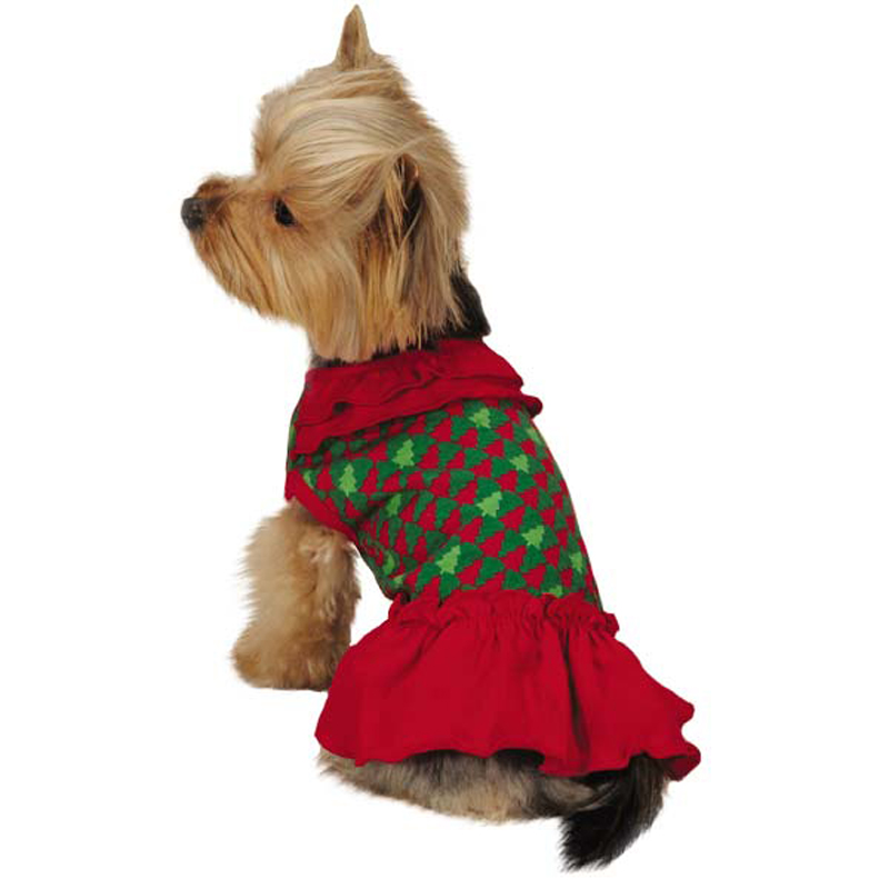 Holiday Houndstooth Dog Dress