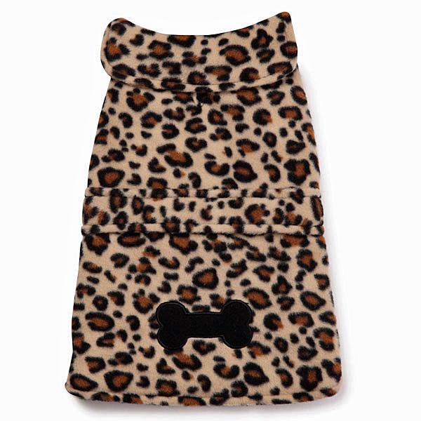 East Side Collection Posh Fleece Dog Jacket - Leopard