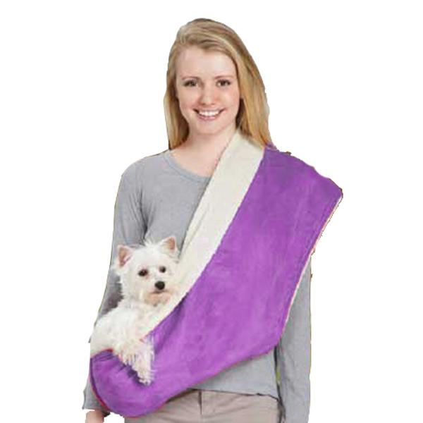 East Side Collection Reversible Sherpa Sling Carrier - Ultra Violet