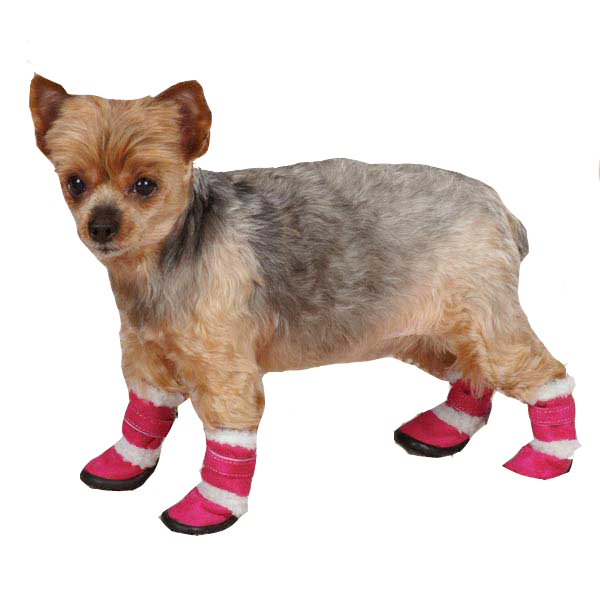 East Side Collection Sherpa Dog Boot - Raspberry