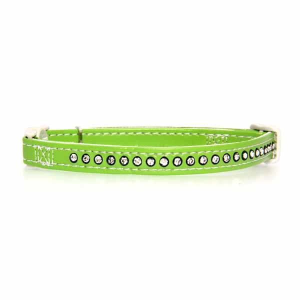 Sparkle Gemstone Cat Collar - Parrot Green