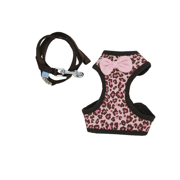 EasyGo Leopard Dog Harness by Dogo - Pink
