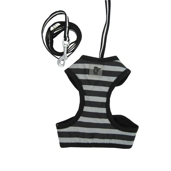 EasyGo Stripe Harness by Dogo - Black