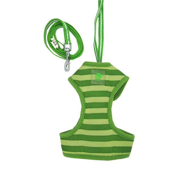 EasyGo Stripe Harness by Dogo - Green