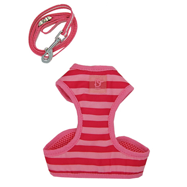 EasyGo Stripe Harness by Dogo - Pink