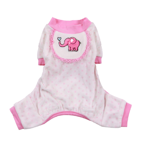 Elephant Dog Pajamas - Pink