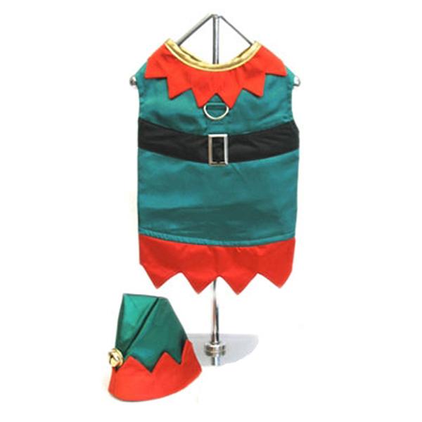 Elf Boy Dog Harness Suit w/ Hat