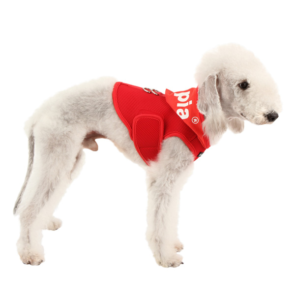 Elite Hooded Mesh Dog Harness by Puppia - Red