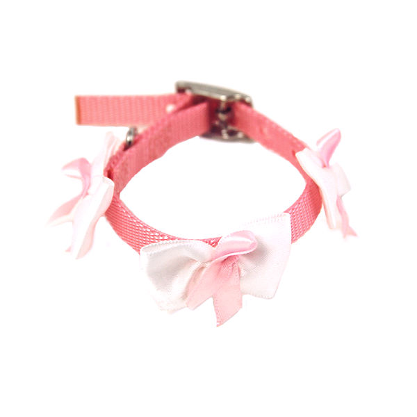 Embellished Breast Cancer Ribbon Dog Collar