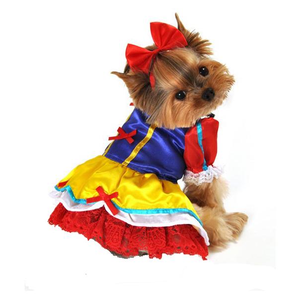 Enchanted Snow Princess Dog Costume