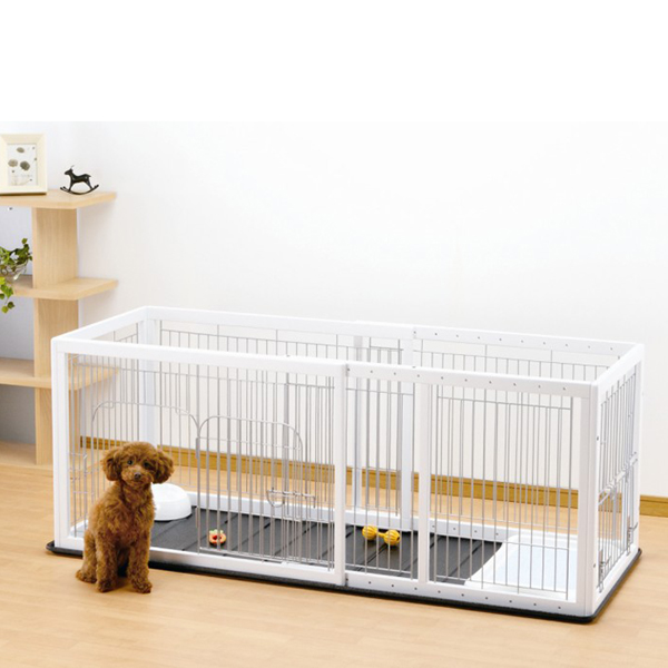 Expandable Pet Pen with Floor Tray - Origami White/Black