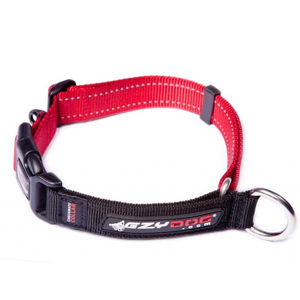 EzyDog Checkmate Limited-Slip Dog Collar - Red