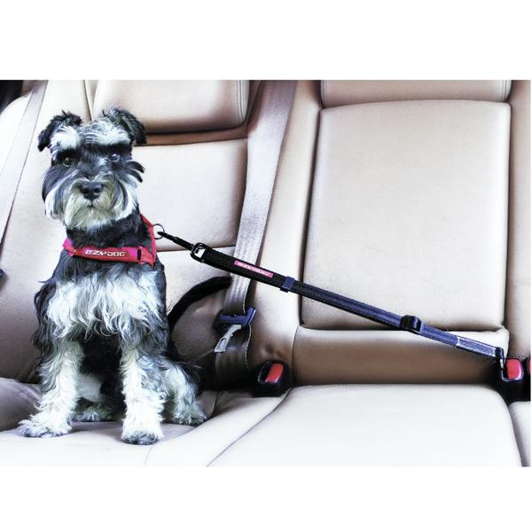 EzyDog Click Adjustable Dog Car Restraint - Black