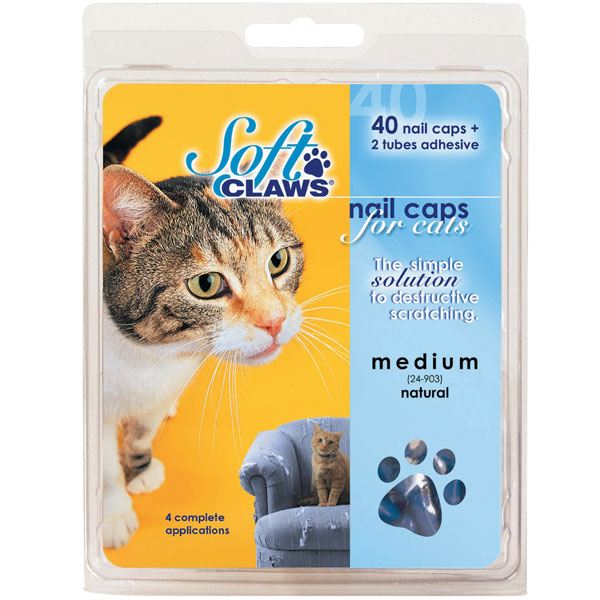 Feline Soft Claws Nail Caps Home Kit - Black
