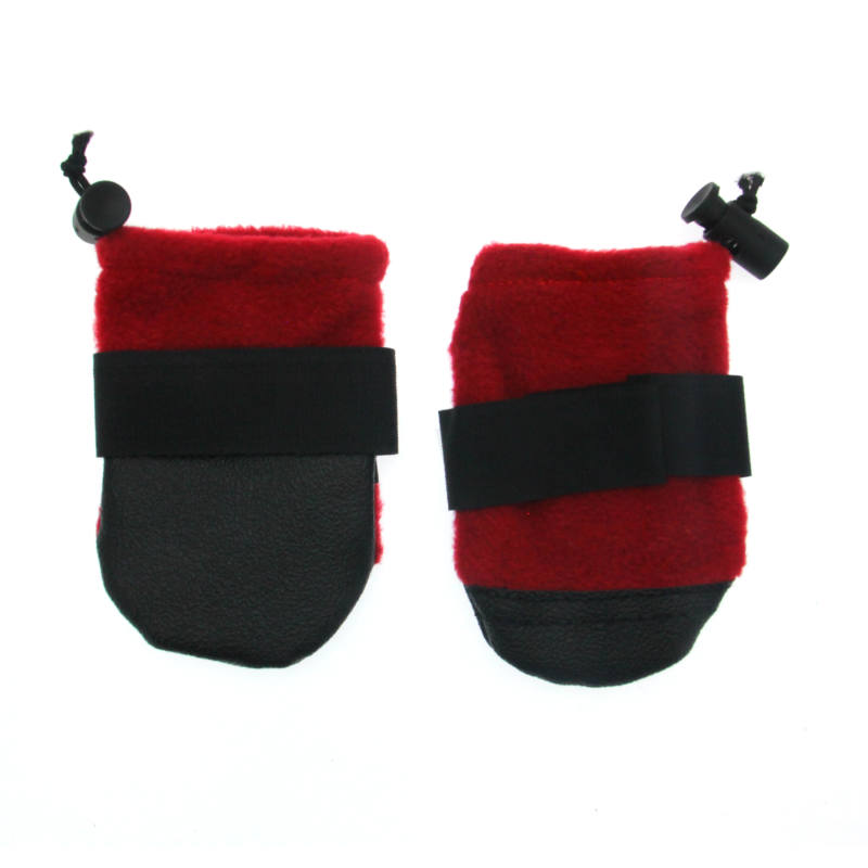 Fido Fleece Dog Booties - Red