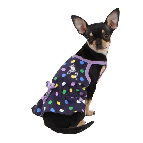 Fiesta Dot Dog Dress by Puppia - Violet