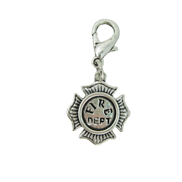 Fire Dept. Collar Charm