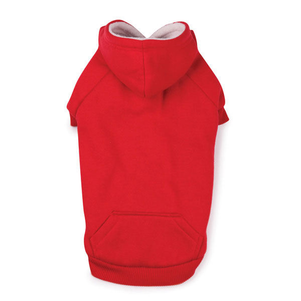 Fleece Lined Dog Hoodie by Zack & Zoey - Tomato Red