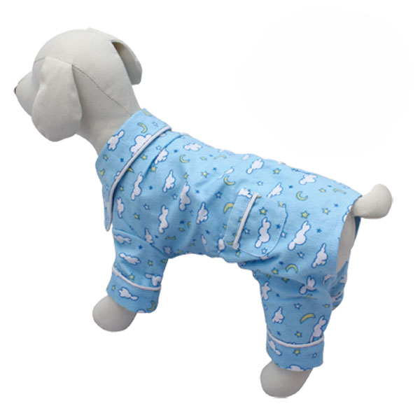 Fluffy Clouds and Stars Dog Pajamas by Klippo - Light Blue