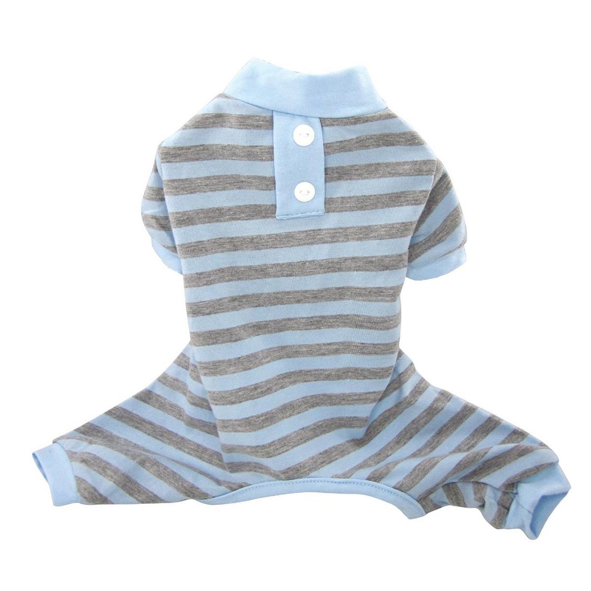 FouFou Classic Striped Dog Pajamas - Blue