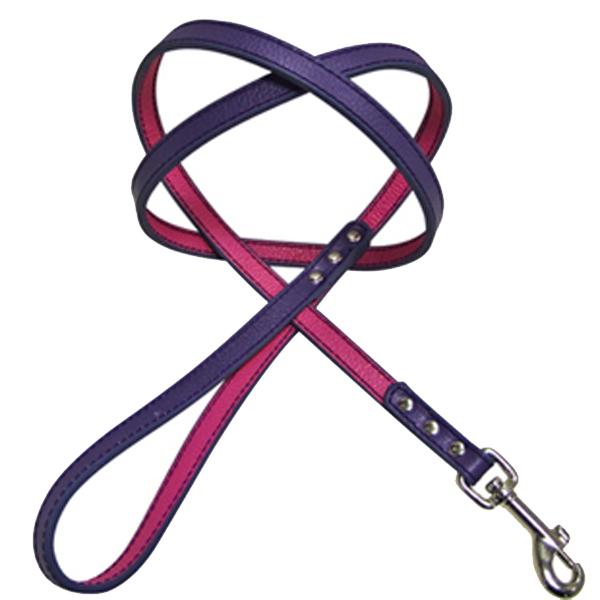 FouFou Reversible Dog Leash - Purple/Fuchsia