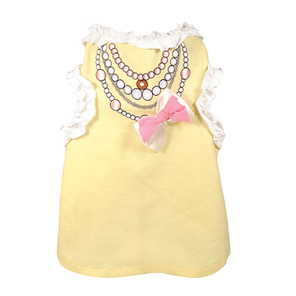 FouFou Ruffled Dog Tank - Yellow