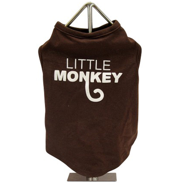 FouFou Slogan Dog Tank - Little Monkey