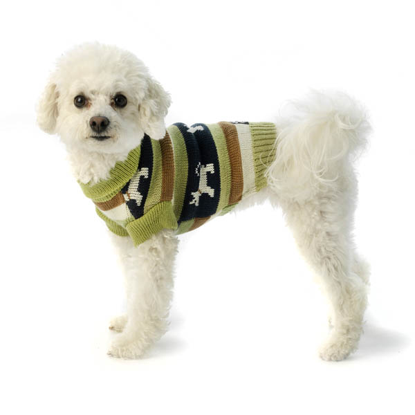 Fritzy's Fair Isle Dog Sweater - Winter Pear