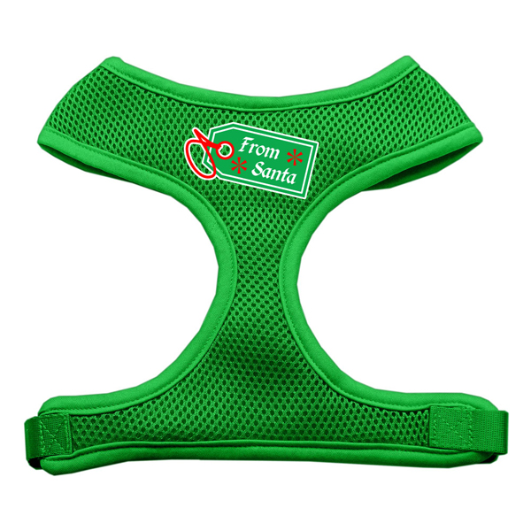 From Santa Tag Mesh Dog Harness - Green