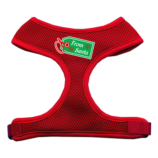 From Santa Tag Mesh Dog Harness - Red